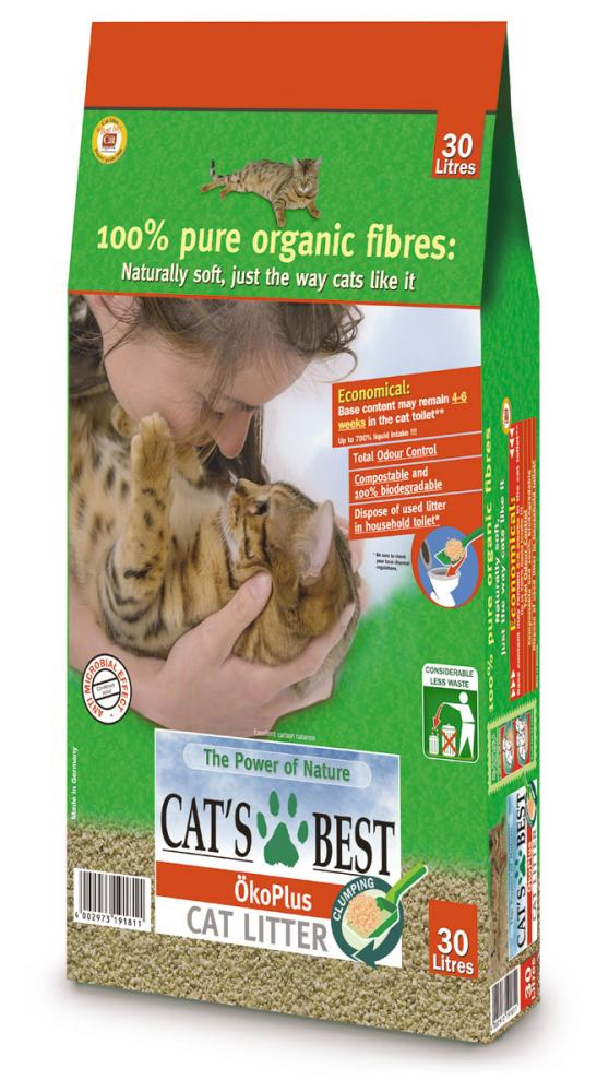 Cats Best Okoplus Wood Clump Cat Litter