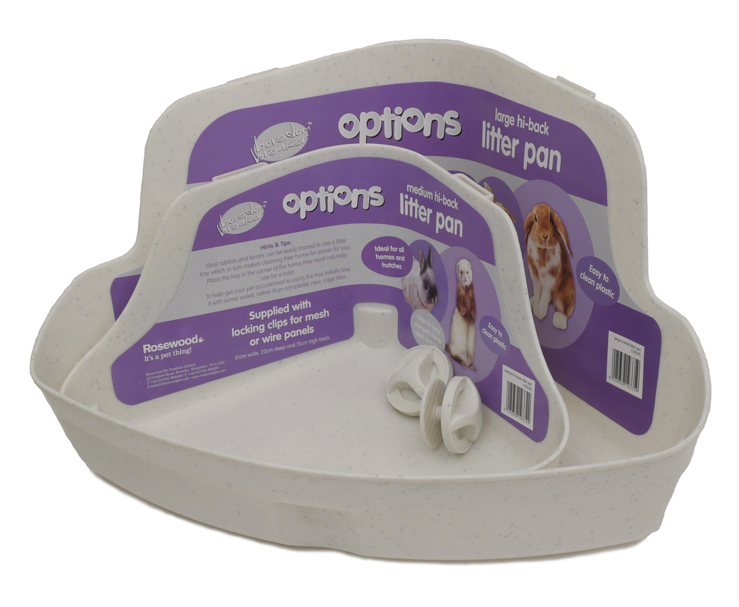 Options Corner Litter Tray for Small Animals