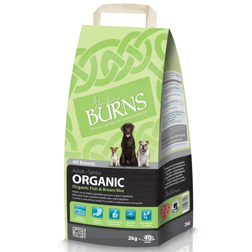 Burns Organic Fish & Brown Rice Adult & Senior Dog Food
