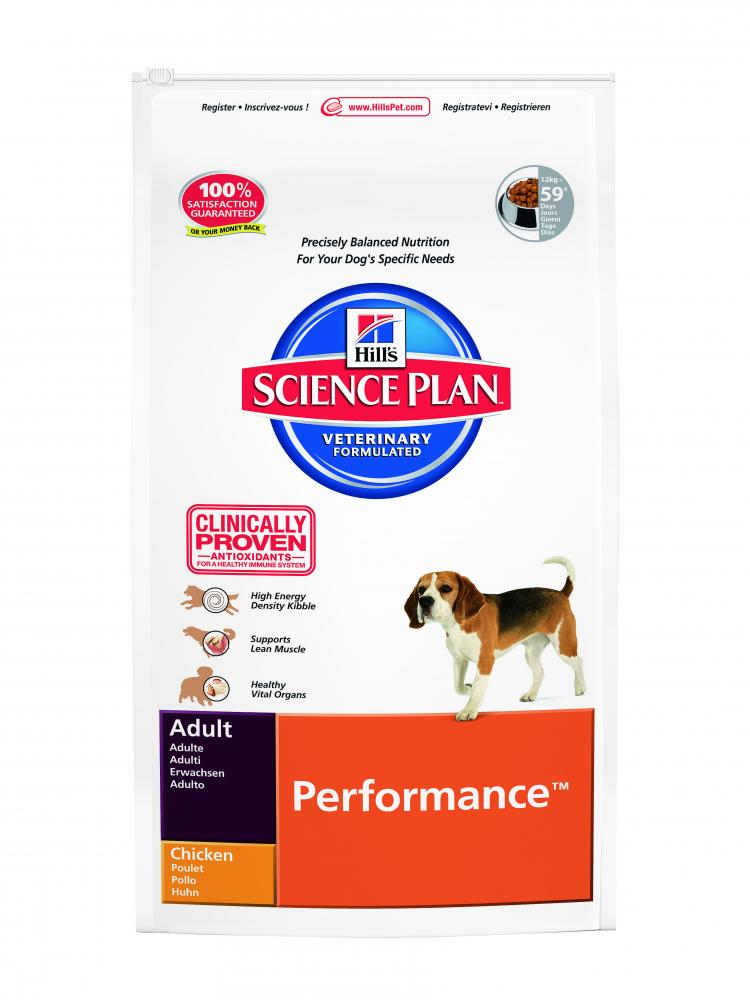 Hills Science Plan Adult Performance Chicken Dog Food