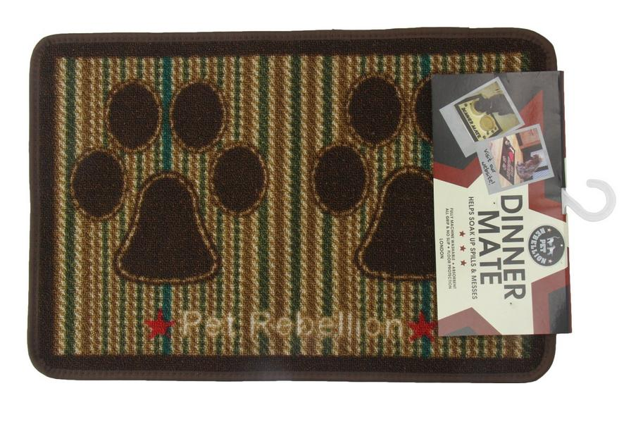 Pet Rebellion Tweed Dinner Mate Dog Placemat