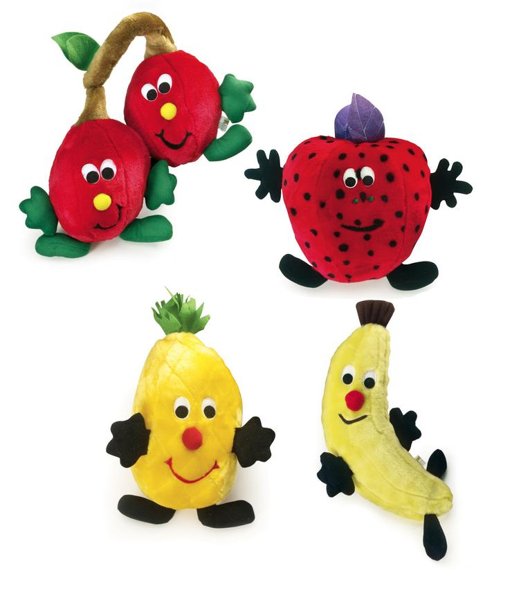 PetLove Fruit Salad Softees Dog Toy