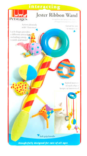 Petstages Jester Ribbon Wand Cat Toy