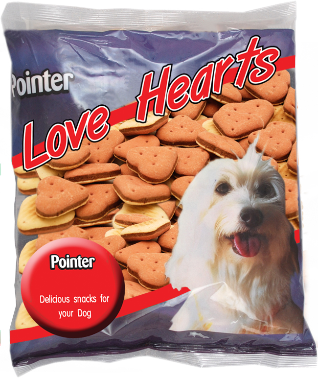 Pointer Love Heart Biscuit Dog Treats