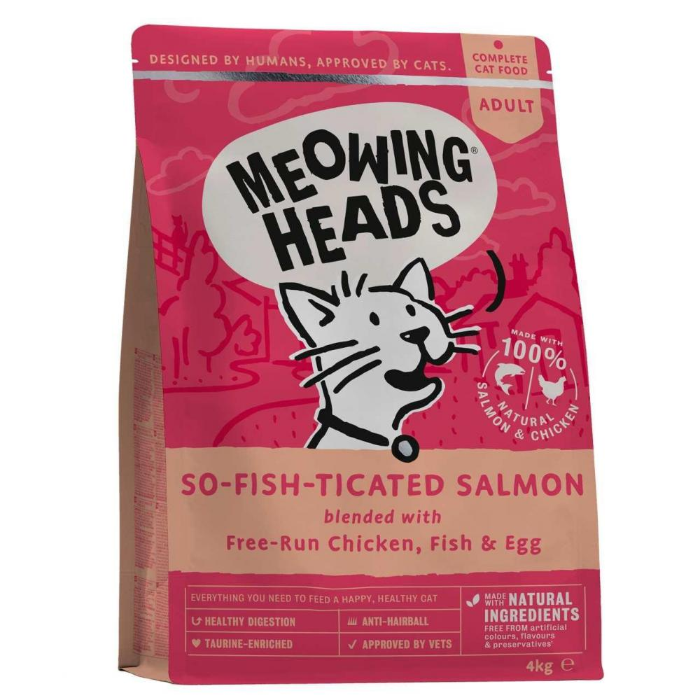 Meowing Heads So-Fish-Ticated Salmon Adult Dry Cat Food