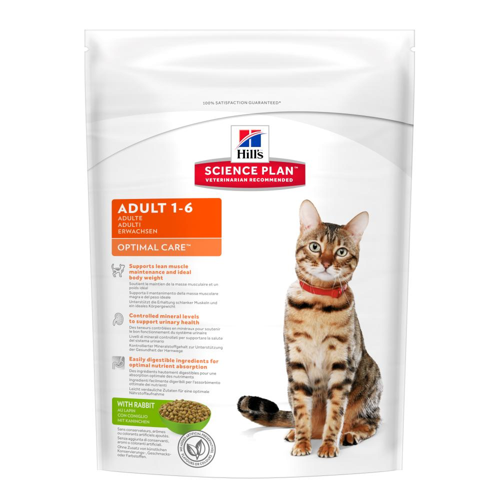 Hills Science Plan Adult Optimal Care Rabbit Cat Food