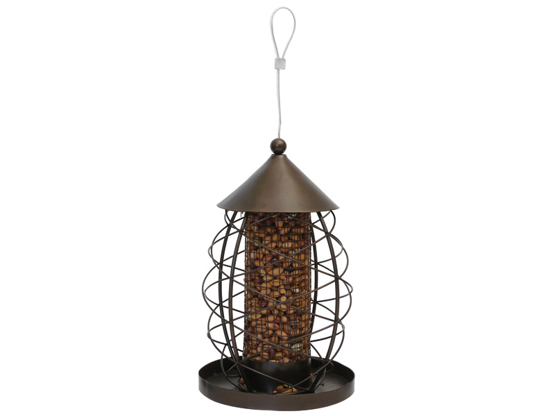 Rosewood Antique Nut Lantern for Birds