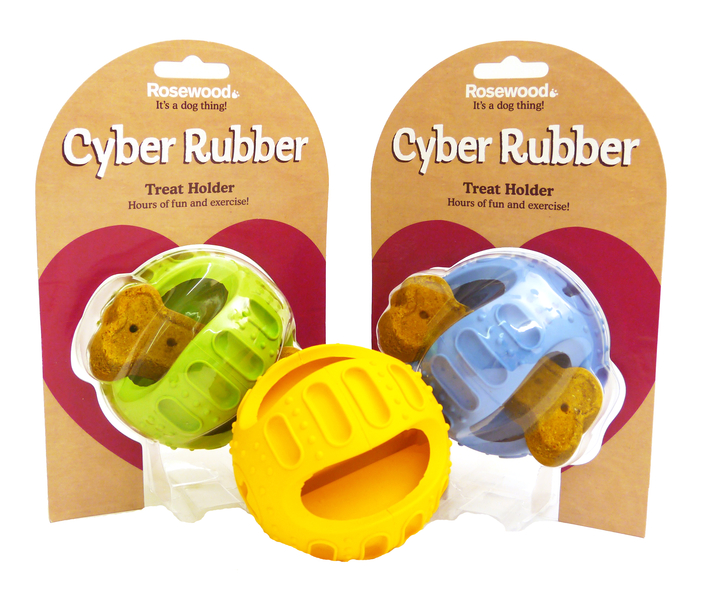Rosewood Cyber Rubber Treat Holder Dog Toy