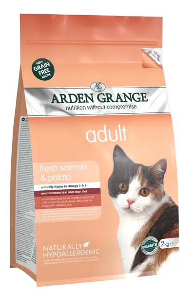 Arden Grange Fresh Salmon & Potato Grain Free Adult Cat Food