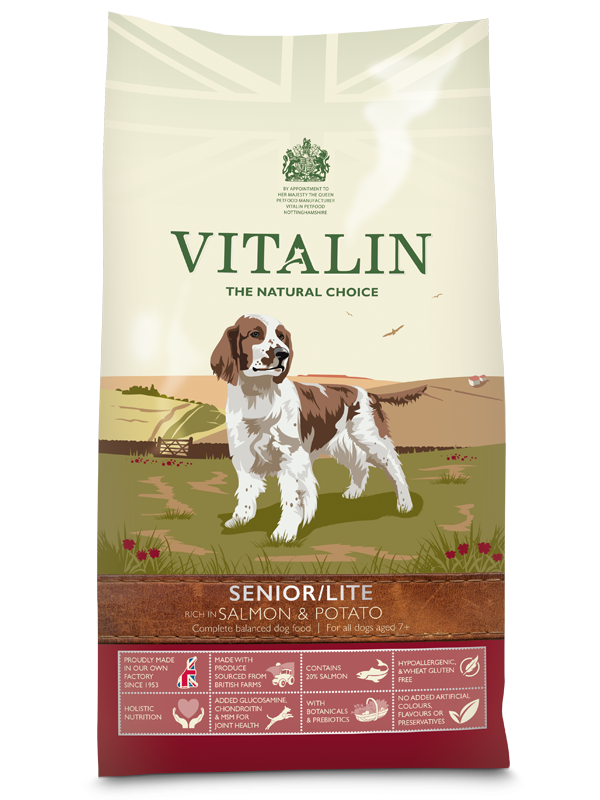 Vitalin Senior Lite Mature or Overweight Diet Dog Food