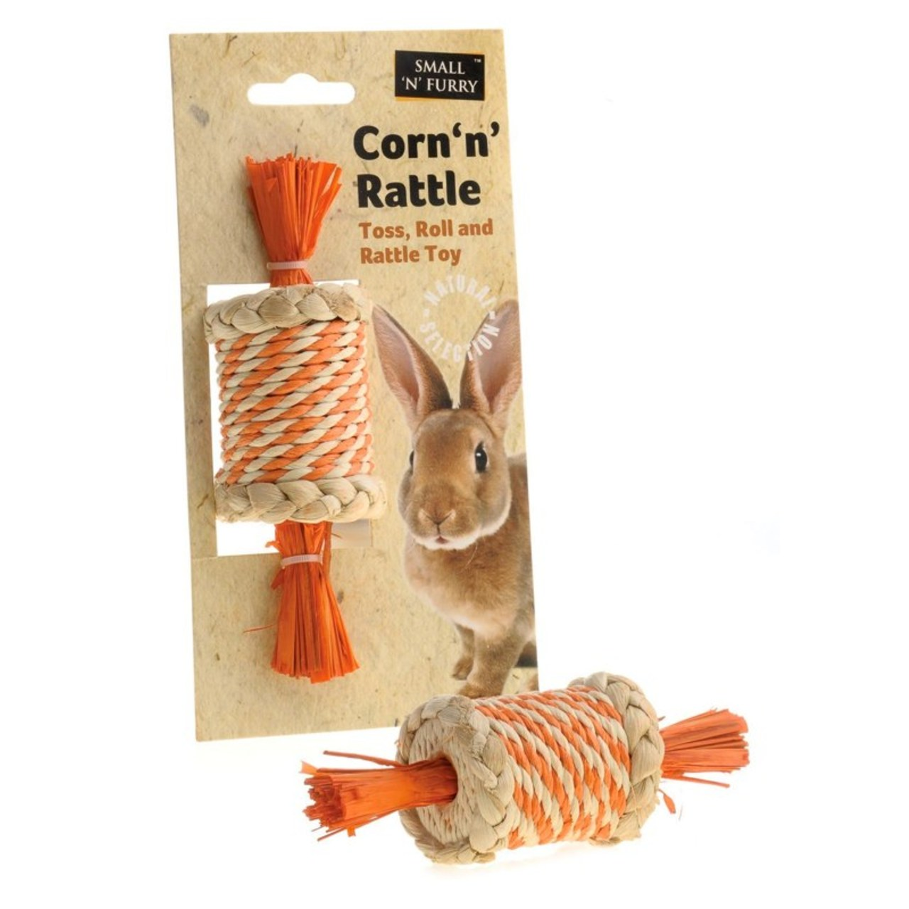 Small 'N' Fluffy Corn 'n' Rattle Small Animal Chew
