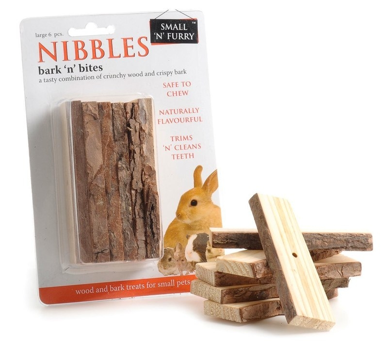Small 'N' Furry Nibble Bark 'n' Bites for Small Animals