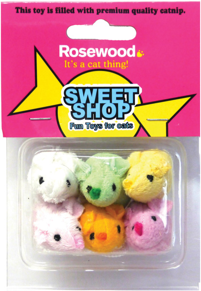 Rosewood Sweet Shop Sugar Mice Parade Cat Toy