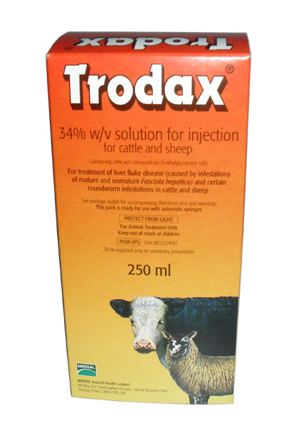 Liver Wormer Trodax 34% for Cattle & Sheep