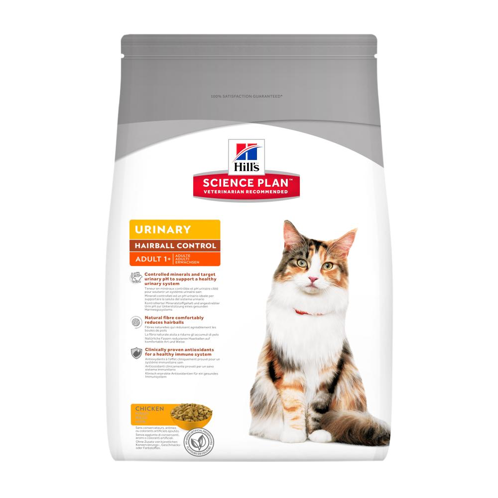 Hill's Science Plan Feline Adult Urinary Health Hairball Control