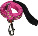 Red Dingo Lime Green Stars on Hot Pink Dog Lead