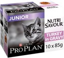 PRO PLAN NutriSavour Junior Wet Cat Food Turkey in Gravy