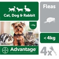 Advantage 40 Spot On Flea Control Small Dogs, Cats and Rabbits