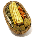 Boredom Breaker Willow Treat Basket for Small Animals