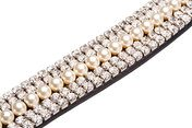 Caldene Curved 5 Row Diamante and Pearl Browband