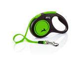 Flexi New Neon Tape Dog Lead 5m Green