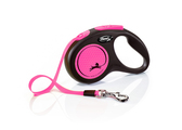 Flexi New Neon Tape Dog Lead 5m Pink