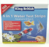 King British 6-In-1 Test Strips for Aquariums