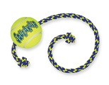 KONG AirDog Squeakair Ball with Rope Dog Toy