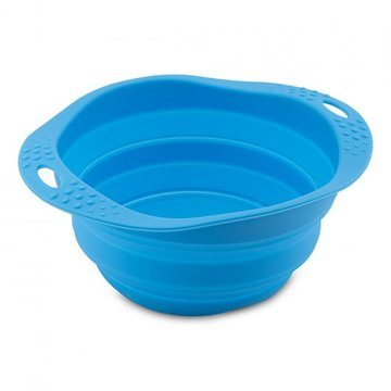 Beco Pets Collapsible Travel Blue Dog Bowl