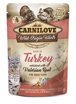 Carnilove Turkey with Valerian Adult Cat Food Pouches