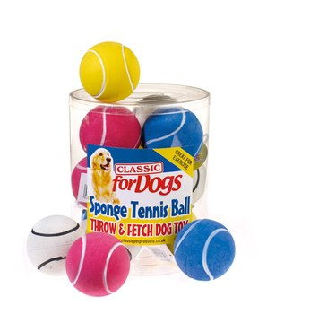 Classic Sponge Rubber Tennis Ball Dog Toy