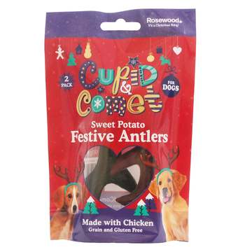 Rosewood Cupid & Comet Sweet Potato Festive Antlers for Dogs