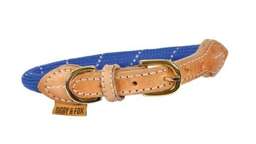 Digby & Fox Reflective Dog Collar Blue