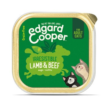 Edgard Cooper Irresistible Lamb & Beef Adult Cat Wet Food