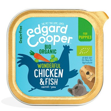 Edgard Cooper Organic Wonderful Chicken & Fish Adult Dog Wet Food Trays
