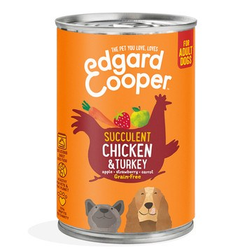 Edgard Cooper Succulent Chicken & Turkey Adult Dog Wet Tinned Food