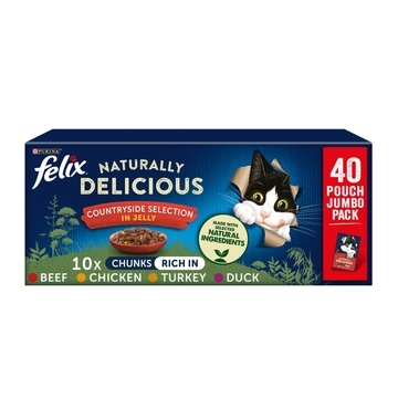 Felix Naturally Delicious Mixed Selection in Jelly Cat Food