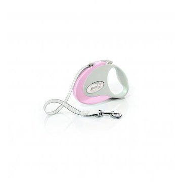 Flexi Style Tape Dog Lead 3m Rose