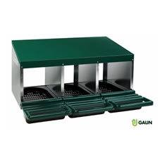 Gaun Laying Nest 3 Compartments Plastic Tray