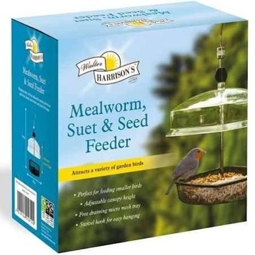 Harrisons Hanging Mealworm Bird Feeder with Canopy