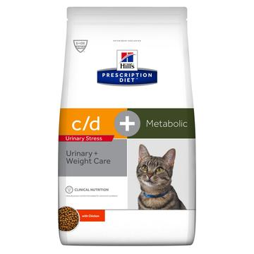 Hill's Prescription Diet c/d Urinary Stress + Metabolic Cat Food with Chicken