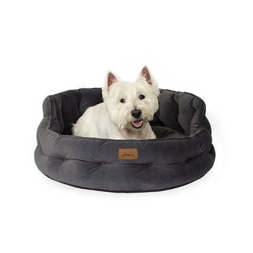 Joules Chesterfield Grey Pet Bed