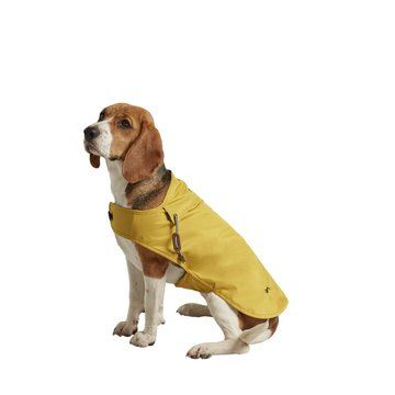 Joules Water Resistant Raincoat Mustard With Navy Striped Lining