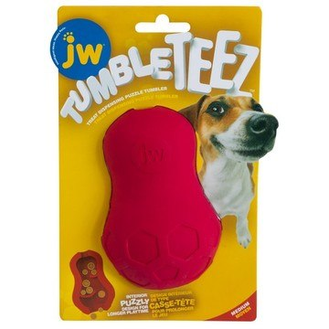 Jw Tumble Teez Treat Toy Red