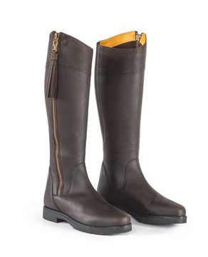 Moretta Childrens Alessandra Country Boots Chocolate