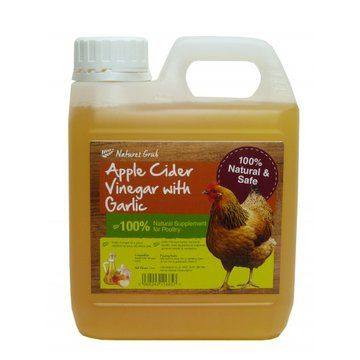 Natures Grub Organic Cider Vinegar With Garlic for Poultry