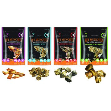 Pet Munchies Natural Wild Gourmet Salmon Treats for Dogs