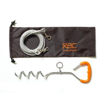RAC Tie Out Stake & Cable Kit