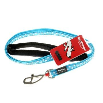 Red Dingo Turquoise with White Stars Dog Lead