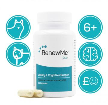RenewMe™ Vitality & Cognitive Support Capsules for Cats & Dogs